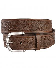 Ariat Golden Tooled Western Belt - Reg & Big