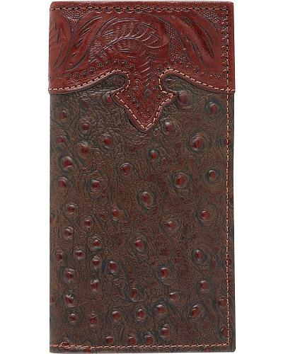 American West Ostrich Print Rodeo Wallet Western & Country 515057