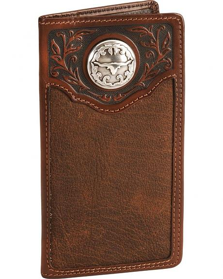 Silver Creek Longhorn City Leather Checkbook