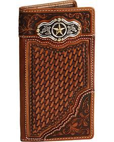 Silver Creek Laredo Ranger Leather Checkbook