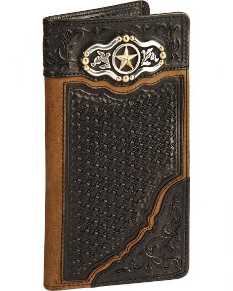Silver Creek Laredo Ranger Leather Checkbook