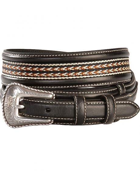 Ribbon Inlay Leather Ranger Belt