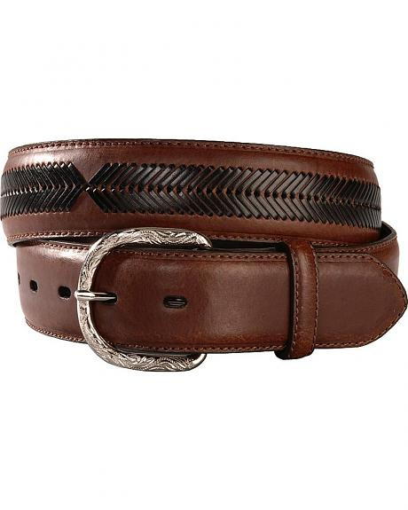 Nocona Contrasting Leather Laced Belt