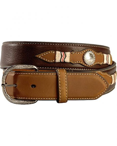 Nocona Concho Billet Leather Belt