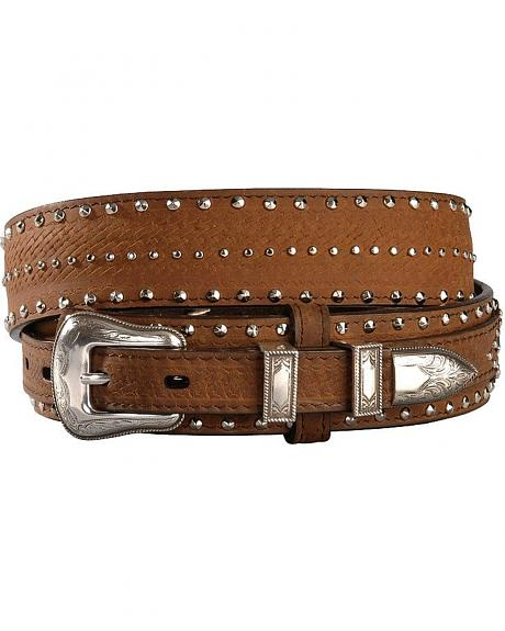 Studded and Diamond Concho Leather Belt