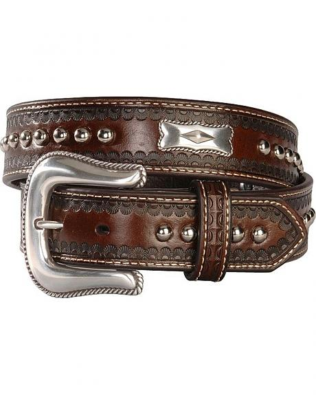 Nocona Rectangle Concho Leather Belt