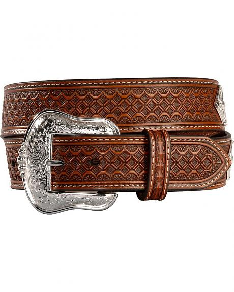 Concho Laced Leather Belt