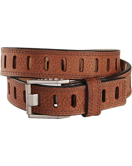 HDX Double Stitched Hole Leather Belt