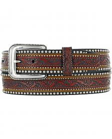 Tony Lama Men's Jagged Rail Western Leather Belt