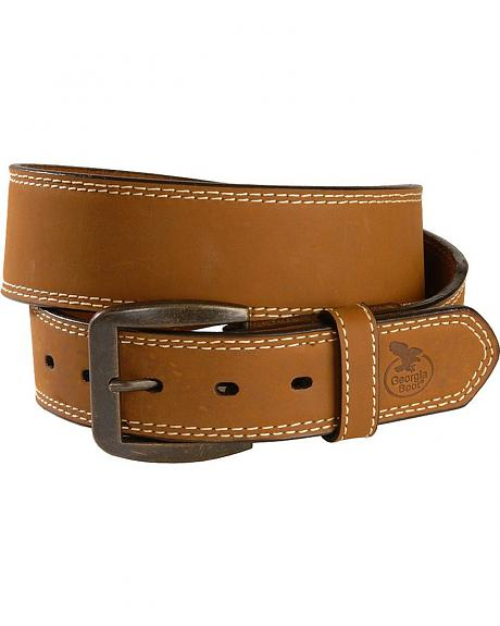 Georgia Boot Smooth Tan Leather Belt