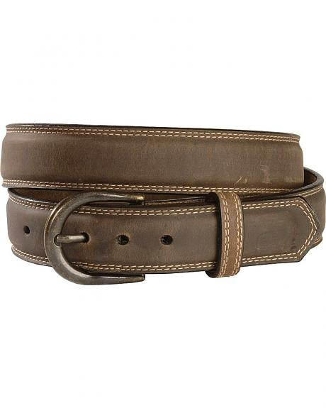 Georgia Boot Smooth Brown Leather Belt