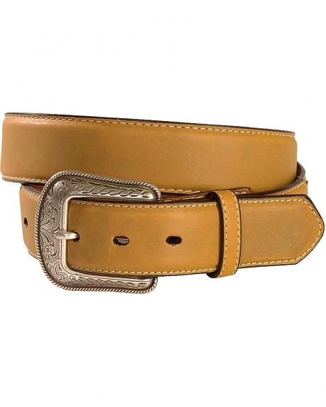 Smooth Tan Leather Western Belt