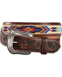 Justin Pueblo Spirit Leather Belt at Sheplers