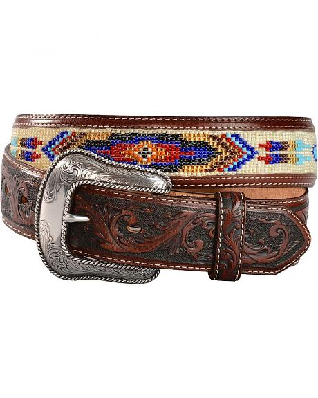 Justin Pueblo Spirit Brown Leather Belt
