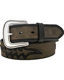Stetson Leather Overlay Belt