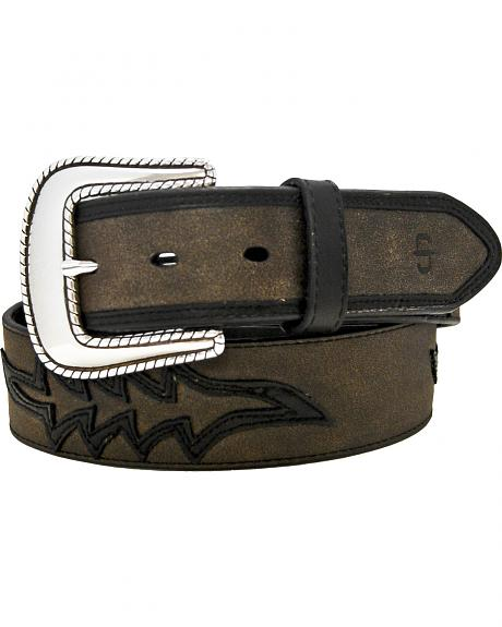 Stetson Leather Overlay Belt