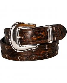 Stetson Scalloped Overlay Belt