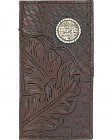 American West Men's Hand Tooled Concho Rodeo Checkbook