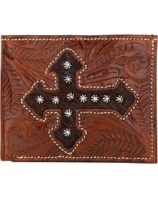 American West Cross Hair-On Hide Bi-Fold Wallet
