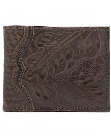 American West Hand Tooled Bi-Fold Wallet