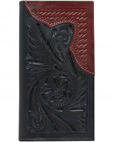 American West Men's Rodeo Mahogany Leather Wallet