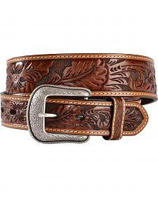 3D Antique Floral Tooled Belt