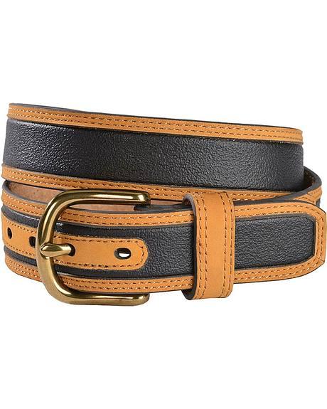 HDX Textured Center Leather Belt