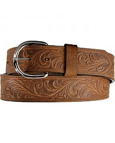 Silvercreek Western Hand Tooled Leather Belt