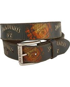 Jack Daniel's Vintage Barrel Logo Western Belt