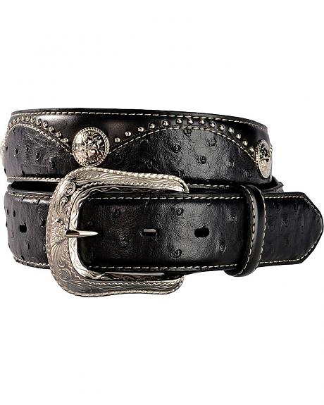 Exclusive Gibson Trading Co. Ostrich Print Studded Concho Belt