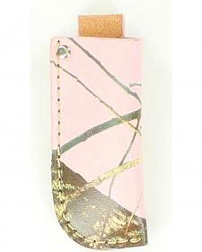 Nocona Pink Mossy Oak Leather Knife Sheath
