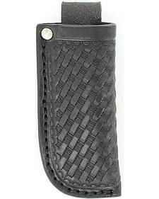 Nocona Black Basketweave Leather Knife Sheath