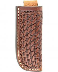 Nocona Basketweave Leather Knife Sheath