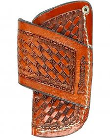Nocona Basketweave Leather Horizontal Knife Sheath
