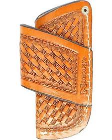 Nocona Basketweave Leather Horizontal Knife Sheath