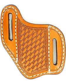 Nocona Basketweave Leather Diagonal Knife Sheath