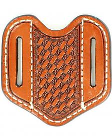 Nocona Basketweave Vertical Sleeve Leather Sheath