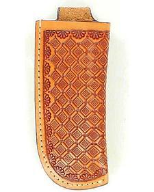 Nocona Basketweave Leather Knife Sheath
