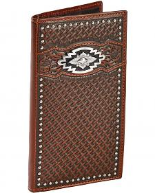 Ariat Basketweave & Aztec Concho Rodeo Wallet