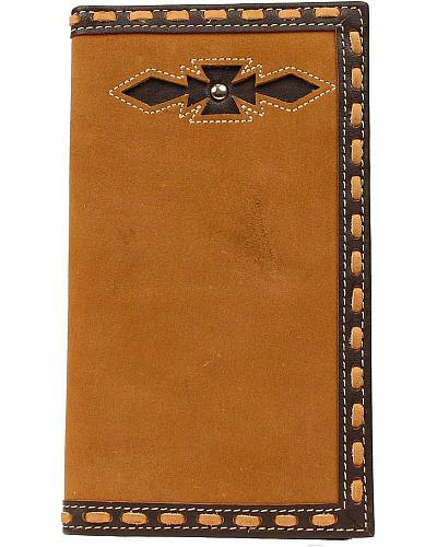 Ariat Laced Edge & Aztec Inlay Rodeo Wallet Western & Country A3513844