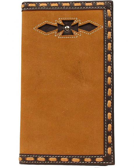 Ariat Laced Edge & Aztec Inlay Rodeo Wallet