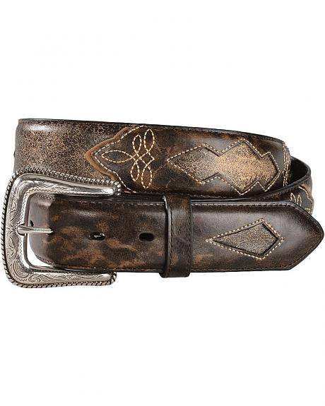 Red Ranch Antique Brown Cutout Leather Belt