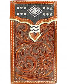 Nocona Overlay with Diamond Concho Rodeo Wallet