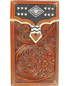 Nocona Overlay with Diamond Concho Rodeo Wallet