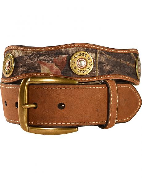 Nocona Mossy Oak Camo 12 Gauge Shotgun Shell Belt