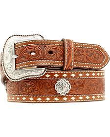 Nocona Cross Concho Embossed Leather Belt