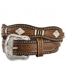 Nocona Scalloped Basketweave Concho Western Belt