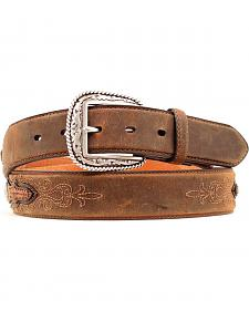Ariat Embroidered Leather Laced Overlay Belt
