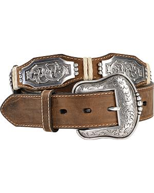 Ariat Scalloped Long Concho Belt
