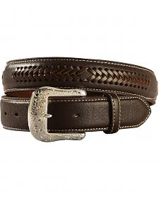 Ariat Constrasting Leather Laced Overlay Belt